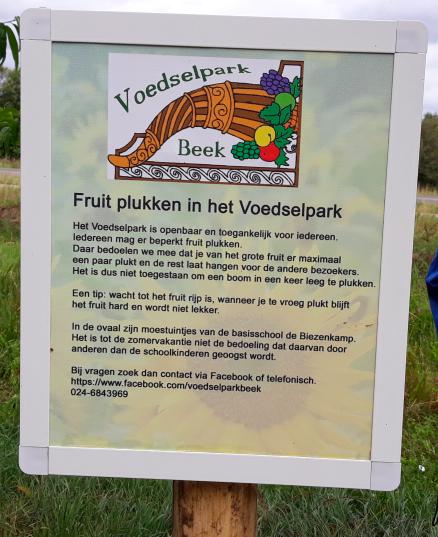 Voedselpark Beek, bord